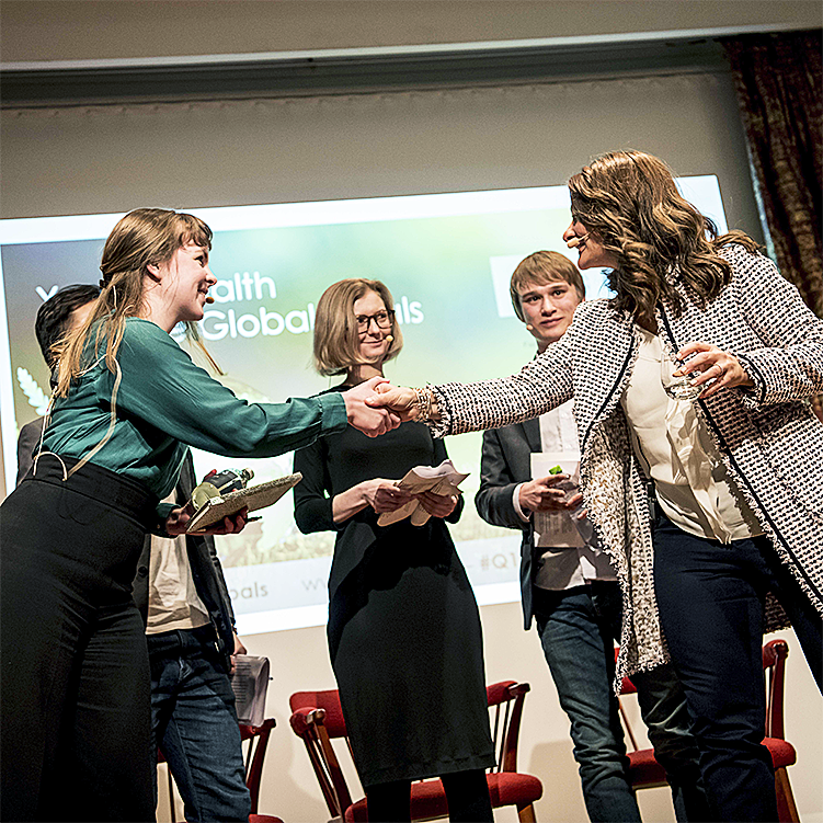 Melinda Gates meet SIGHT student panel